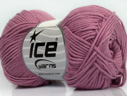 Lot of 8 Skeins Ice Yarns COTTON BAMBOO (50% Bamboo 50% Cotton) Yarn Rose Pink