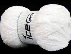 Lot of 4 x 100gr Skeins Ice Yarns PUFFY (100% MicroFiber) Yarn White