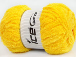 Lot of 4 x 100gr Skeins Ice Yarns PUFFY (100% MicroFiber) Yarn Yellow
