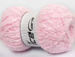 Lot of 4 x 100gr Skeins Ice Yarns PUFFY (100% MicroFiber) Yarn Light Pink