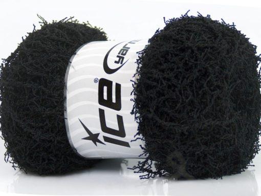 Lot of 4 x 100gr Skeins Ice Yarns SCRUBBER TWIST Hand Knitting Yarn Black