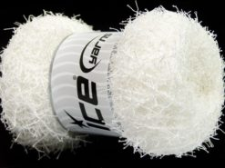 Lot of 4 x 100gr Skeins Ice Yarns SCRUBBER TWIST Hand Knitting Yarn White