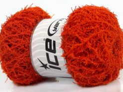 Lot of 4 x 100gr Skeins Ice Yarns SCRUBBER TWIST Hand Knitting Yarn Orange