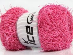 Lot of 4 x 100gr Skeins Ice Yarns SCRUBBER TWIST Hand Knitting Yarn Pink