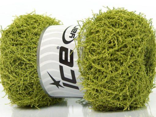 Lot of 4 x 100gr Skeins Ice Yarns SCRUBBER TWIST Hand Knitting Yarn Green