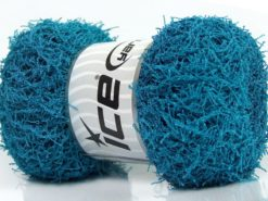 Lot of 4 x 100gr Skeins Ice Yarns SCRUBBER TWIST Hand Knitting Yarn Turquoise