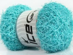 Lot of 4 x 100gr Skeins Ice Yarns SCRUBBER TWIST Yarn Light Turquoise