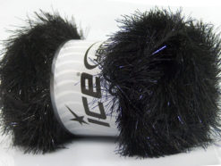 Lot of 4 x 100gr Skeins Ice Yarns EYELASH DAZZLE Hand Knitting Yarn Black