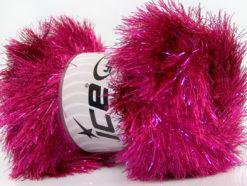 Lot of 4 x 100gr Skeins Ice Yarns EYELASH DAZZLE Hand Knitting Yarn Fuchsia