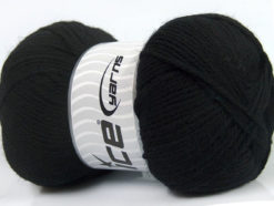 Lot of 4 x 100gr Skeins Ice Yarns VIRGIN WOOL DELUXE (100% Virgin Wool) Yarn Black