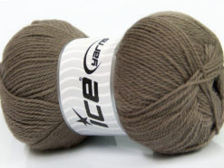 Lot of 4 x 100gr Skeins Ice Yarns VIRGIN WOOL DELUXE (100% Virgin Wool) Yarn Camel