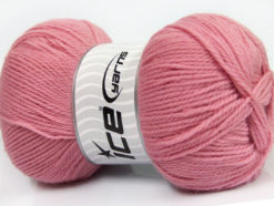 Lot of 4 x 100gr Skeins Ice Yarns VIRGIN WOOL DELUXE (100% Virgin Wool) Yarn Light Pink