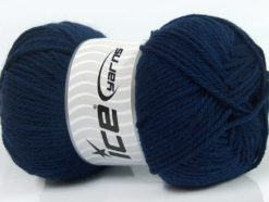 Lot of 4 x 100gr Skeins Ice Yarns SOFTLY BABY Hand Knitting Yarn Navy