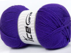 Lot of 4 x 100gr Skeins Ice Yarns SOFTLY BABY Hand Knitting Yarn Purple