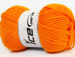 Lot of 4 x 100gr Skeins Ice Yarns SOFTLY BABY Hand Knitting Yarn Orange