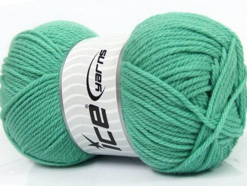Lot of 4 x 100gr Skeins Ice Yarns SOFTLY BABY Hand Knitting Yarn Mint Green