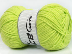 Lot of 4 x 100gr Skeins Ice Yarns SOFTLY BABY Hand Knitting Yarn Baby Green