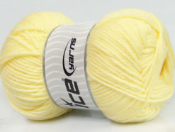 Lot of 4 x 100gr Skeins Ice Yarns SOFTLY BABY Hand Knitting Yarn Baby Yellow