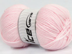 Lot of 4 x 100gr Skeins Ice Yarns SOFTLY BABY Hand Knitting Yarn Baby Pink
