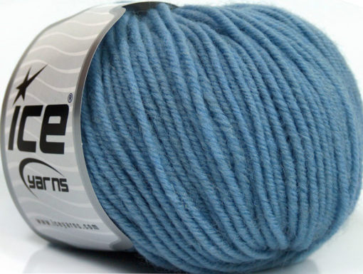 Lot of 6 Skeins Ice Yarns SUPERWASH MERINO Hand Knitting Yarn Light Blue