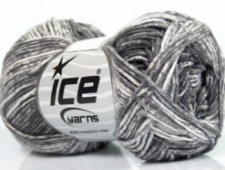 Lot of 8 Skeins Ice Yarns JEANS (100% Cotton) Hand Knitting Yarn Grey White