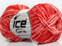 Lot of 8 Skeins Ice Yarns JEANS (100% Cotton) Hand Knitting Yarn Red White