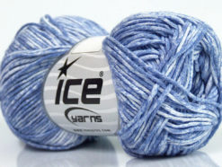 Lot of 8 Skeins Ice Yarns JEANS (100% Cotton) Yarn Indigo Blue White