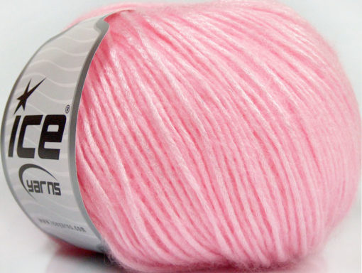 Lot of 8 Skeins Ice Yarns SILVER SHINE Hand Knitting Yarn Light Pink