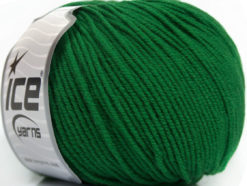 Lot of 4 Skeins Ice Yarns SUPERWASH MERINO EXTRAFINE (100% Superwash Extrafine Merino Wool) Yarn Green