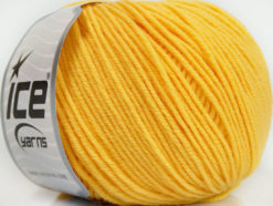Lot of 4 Skeins Ice Yarns SUPERWASH MERINO EXTRAFINE (100% Superwash Extrafine Merino Wool) Yarn Yellow