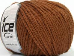 Lot of 3 x 100gr Skeins Ice Yarns SUPERWASH WOOL BULKY (100% Superwash Wool) Yarn Brown