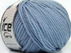 Lot of 3 x 100gr Skeins Ice Yarns SUPERWASH WOOL BULKY (100% Superwash Wool) Yarn Light Lilac