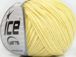 Lot of 8 Skeins Ice Yarns ALARA (50% Cotton) Hand Knitting Yarn Light Yellow
