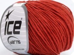Lot of 8 Skeins Ice Yarns ALARA (50% Cotton) Hand Knitting Yarn Marsala Red