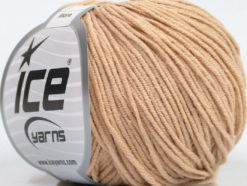 Lot of 8 Skeins Ice Yarns ALARA (50% Cotton) Hand Knitting Yarn Latte