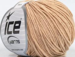Lot of 8 Skeins Ice Yarns ALARA (50% Cotton) Hand Knitting Yarn Latte