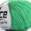 Lot of 8 Skeins Ice Yarns ALARA (50% Cotton) Hand Knitting Yarn Emerald Green