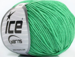 Lot of 8 Skeins Ice Yarns ALARA (50% Cotton) Hand Knitting Yarn Emerald Green
