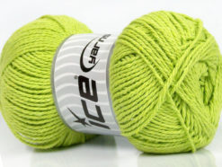 Lot of 4 x 100gr Skeins Ice Yarns COTTON LIGHT (100% Cotton) Yarn Light Green