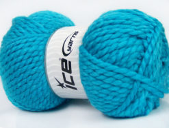 Lot of 2 x 150gr Skeins Ice Yarns SuperBulky ALPINE (45% Wool) Yarn Turquoise