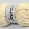 250 gr ICE YARNS ALPINE XL (45% Wool) Hand Knitting Yarn Cream