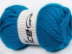 250 gr ICE YARNS ALPINE XL (45% Wool) Hand Knitting Yarn Blue