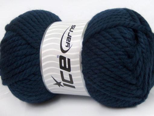 250 gr ICE YARNS ALPINE XL (45% Wool) Hand Knitting Yarn Navy