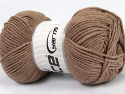 Lot of 4 x 100gr Skeins Ice Yarns LORENA WORSTED (55% Cotton) Yarn Camel