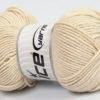 Lot of 4 x 100gr Skeins Ice Yarns LORENA WORSTED (55% Cotton) Yarn Light Beige
