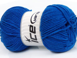 Lot of 4 x 100gr Skeins Ice Yarns LORENA WORSTED (55% Cotton) Yarn Royal Blue