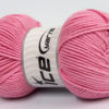 Lot of 4 x 100gr Skeins Ice Yarns LORENA WORSTED (55% Cotton) Yarn Light Pink