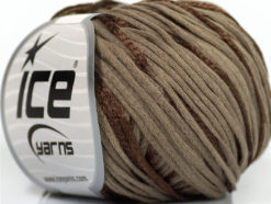 Lot of 6 Skeins Ice Yarns SUMMERTIME (79% Cotton 21% Viscose) Yarn Brown