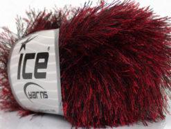 Lot of 8 Skeins Ice Yarns EYELASH Hand Knitting Yarn Red Black