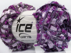 Lot of 8 Skeins Ice Yarns QUINTE Hand Knitting Yarn Purple Lilac